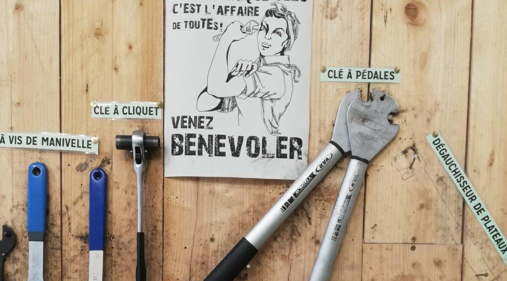 Affiche féministe atelier vélo